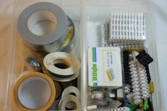 Lüsterklemmen, Wagoklemmen, Isolierband und Reparaturband