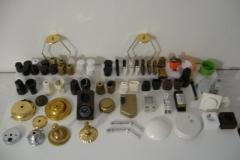 Zeitschaltuhr, Schirmträger, Zierplatten, Kupplungen, Stecker